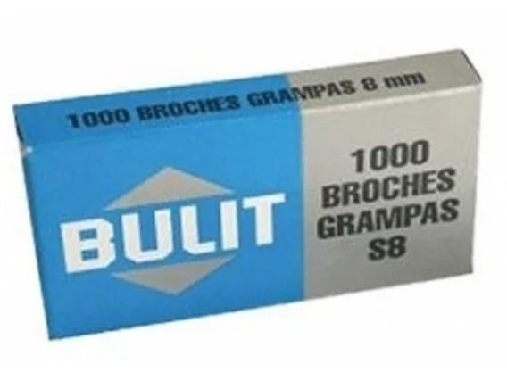 Broches Grampas Bulit Standard S8 8mm Por 1000 Unidades