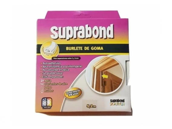 Burlete Autoadhesivo De Goma Perfil P Color Blanco