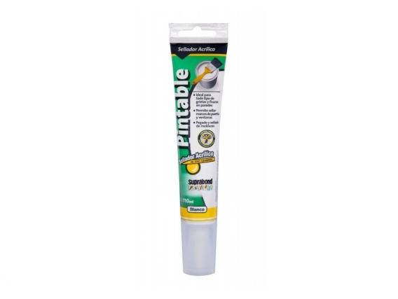 Sellador Acrílico Pintable Suprabond 110Ml Blanco
