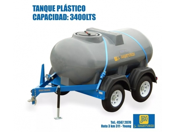 Acoplado Cisterna Tanque J. Hartwich 3400 Lts.