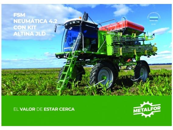 Fertilizadora Metalfor Neumática 4.2 Con Kit Altina JLD