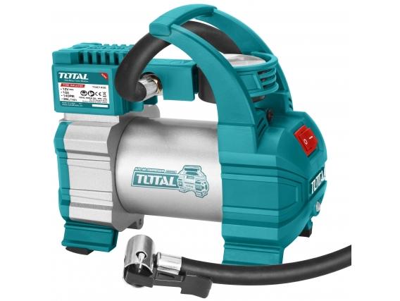 Inflador Compresor Para Auto Total 12V, 140 Psi, 35 L/m