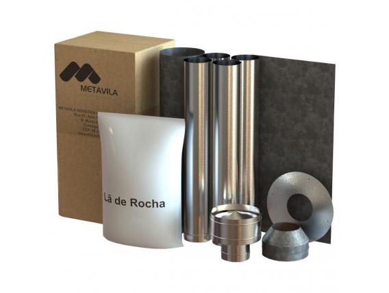 Kit De Caños Liv Para Calefactor A Leña, Salida Techo