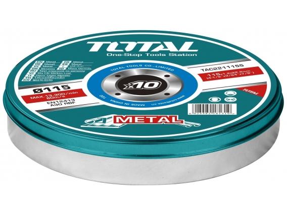 Set 10 Discos Corte Metal Total Para Amoladora 4.1/2