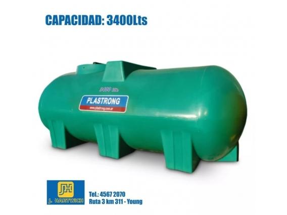 Tanque Plástico Cilíndrico Plastrong 3400 Lts.