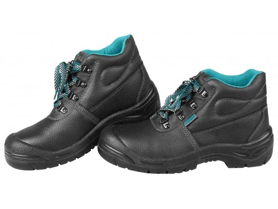 Zapato De Trabajo Negro Total - Punta De Acero, Talles